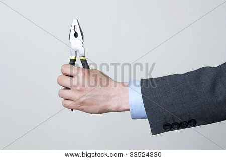Holding a tool