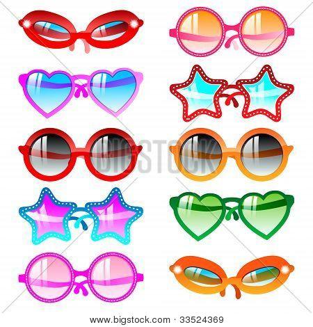 Sunglasses icon set