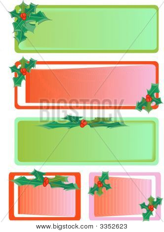 Christmas Holly Tags