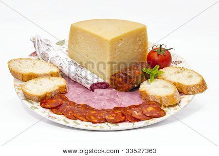 Spanish omelette with chorizo Iberico