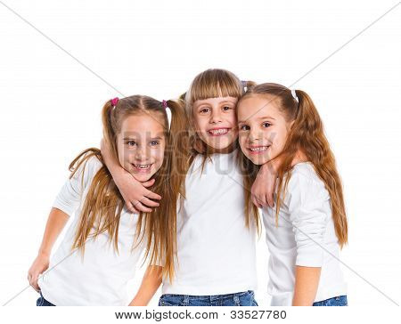 Three attractive girl