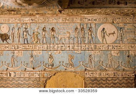 Ancient Egyptian Zodiac Ceiling showing Aries