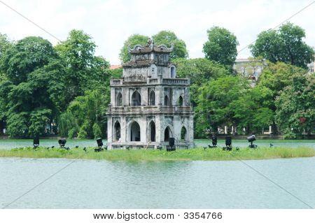 The Tortoise Tower In Hanoi