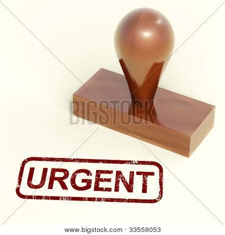 Urgent Stamp Shows Speedy Rush Deliveries