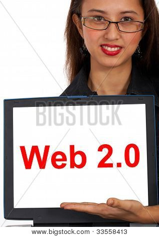 Web2 Computer Message Showing Social Media