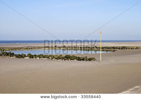 Sandy Beach At Wimmereux. France