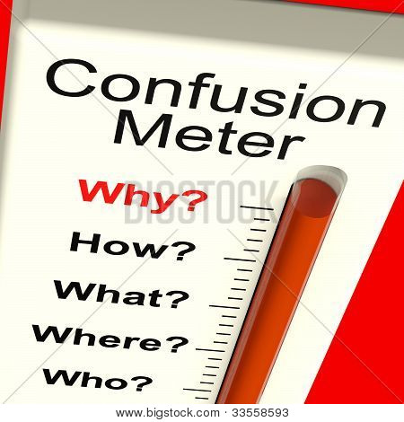Confusion Meter Shows Indecision And Dilemma