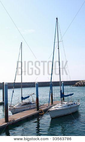 yacht in dock