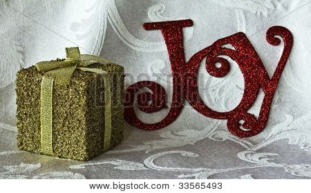Gold Package With Bow And Ribbon