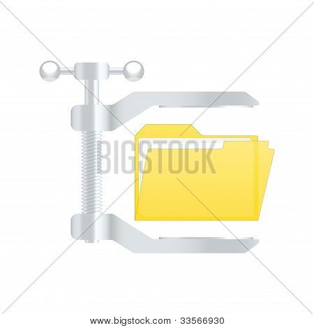 Compress Archive Icon. Vector Illustration