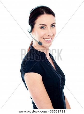 Beautiful Help Desk Female Executive
