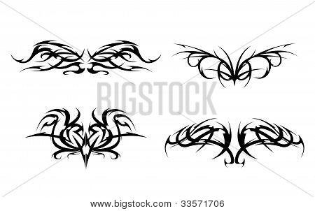 Tribal Tattoo designs vector set