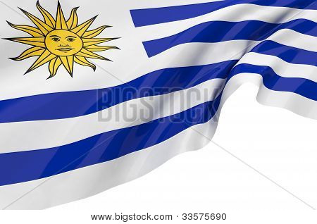 Vector Flags Of Uruguay