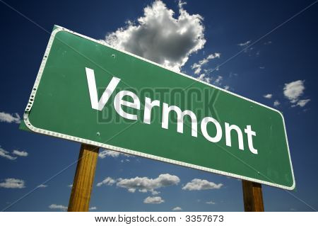Vermont Road Sign
