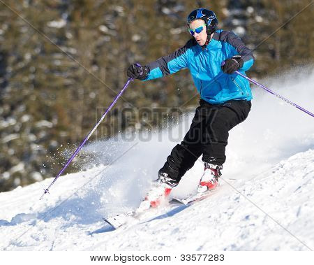 a carving skier