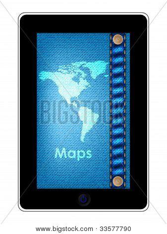 Speciale Tablet Pc-Computer met blauwe spijkerbroek ontwerp