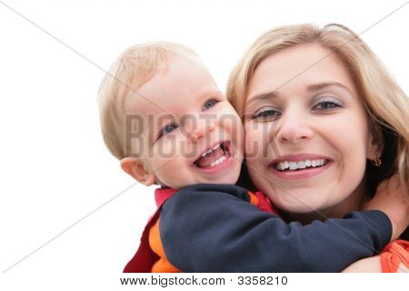 Child Embraces Mother