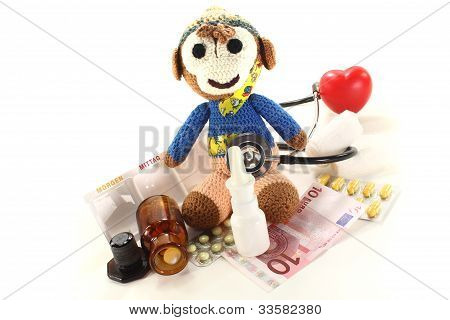 Pediatrician With Monkeys And Drugs