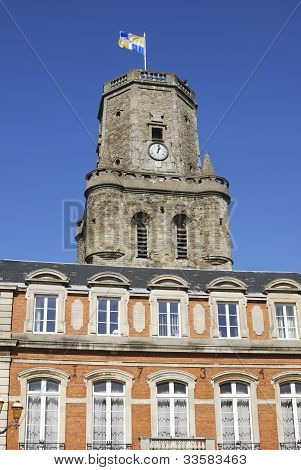 Town Hall And Old Tower in Boulogne-sur-mer. France