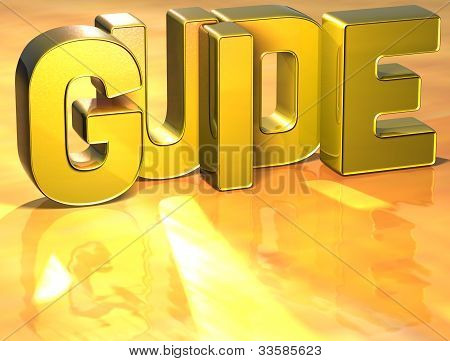 Word Guide On Yellow Background