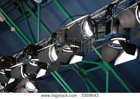 Floodlights Under Ceiling