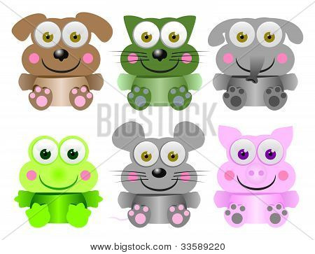 Funny animal baby collection