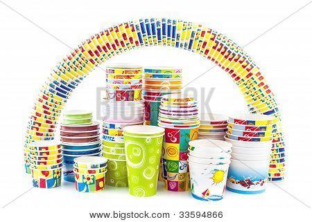 Rainbow Of Ice Cream Paper Cup