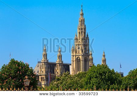 City Hall Of Vienna (rathaus)