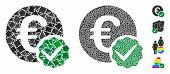 Euro Only Composition Of Trembly Pieces In Various Sizes And Shades, Based On Euro Only Icon. Vector poster