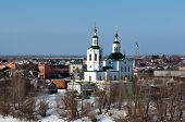picture of exaltation  - Church of the Holy Cross Exaltation in winter Tyumen Siberia Russia - JPG