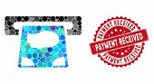 Mosaic Atm Payment And Grunge Stamp Watermark With Payment Received Caption. Mosaic Vector Is Formed poster