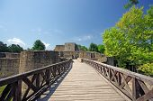 pic of suceava  - A romanian legendary fortress Suceava wall ruins - JPG