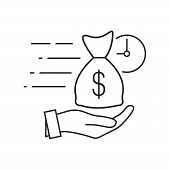 Quick And Easy Loan Fast Money Providence Icon Vector Illustration. Easy Instant Credit, Loan Paymen poster