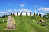 The Armed Forces Memorial And Obelisk, National Memorial Arboretum, Alrewas, Staffordshire, Uk, Euro poster