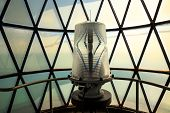 Light Inside The Cape Florida Lighthouse At Bill Baggs Cape Florida State Park At Key Biscayne In Mi poster