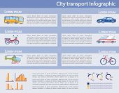 City Private And Public, Freight And Passenger Transport Infographic Set. Presentation Kit To Provid poster