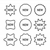 New Labels Vector Collection. New Labels Black Vector Icons Different Shape. Set Of Tags, Labels, Ba poster