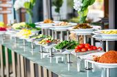 A Delicious Appetizer And Salad Buffet With Various Options In A Restaurant Or Hotel. poster