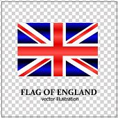 Bright Background With Flag Of England. Happy England Day Background. Bright Vector Illustration Wit poster