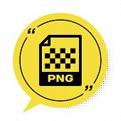 Black Png File Document. Download Png Button Icon Isolated On White Background. Png File Symbol. Yel poster