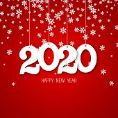 Happy New Year. Greeting Card With Inscription Happy New Year 2020. Fashion Style For Happy New Year poster