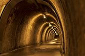 Historic Underground Tunnel Under Zagreb Historic Town, Capital Of Croatia poster