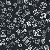 Grey Png File Document. Download Png Button Icon Isolated Seamless Pattern On Black Background. Png  poster