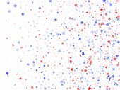 American Independence Day Stars Background. Holiday Confetti In Us Flag Colors For Patriot Day.  Coo poster