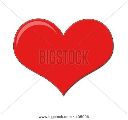 Bright Red Love Heart