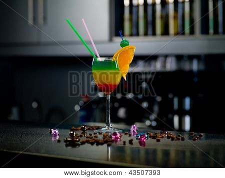 Cocktail At The Bar