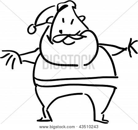 Simple Cartoon Santa Claus