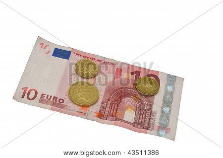 Slowakische Münzen und Euro