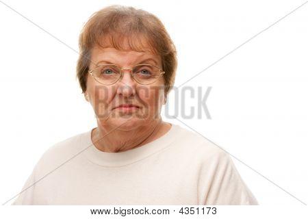 Pensive Attractive Senior Woman