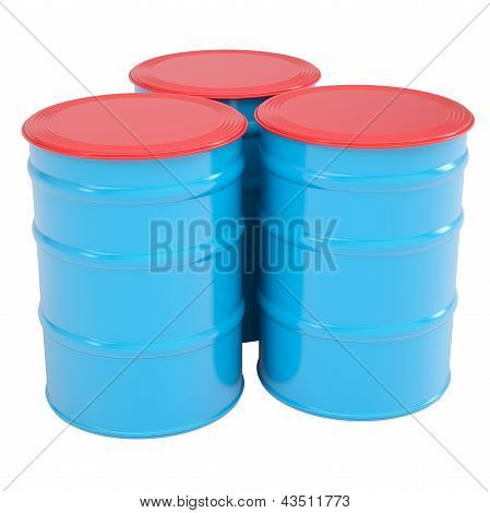 Blue barrel